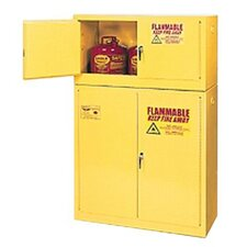 "22.25"" H x 43"" W x 18"" D Flammable Liquid 15 Gallon Safety Storage Cabinet"