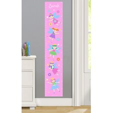 Fairy Princess Personalized Peel and Stick Growth Chart
