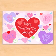 Valentine's Day Hearts Personalized Placemat