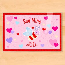Valentine's Day Bee Mine Personalized Placemat