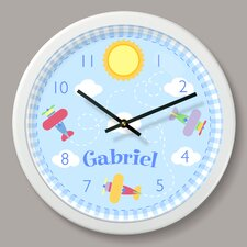 "Up and Away Personalized 12"" Wall Clock"