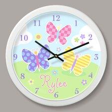 "Butterfly Garden Personalized 12"" Wall Clock"