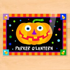 Halloween Jack O' Lantern Personalized Placemat