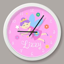 "Fairy Princess Personalized 12"" Wall Clock"