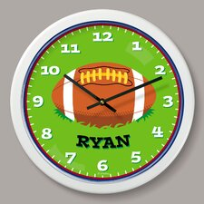 "Football Personalized 12"" Wall Clock"