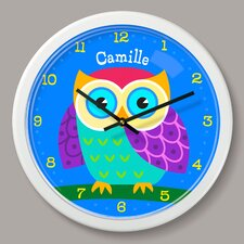 "Owls Personalized 12"" Wall Clock"