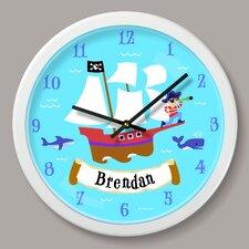"Pirates Personalized 12"" Wall Clock"