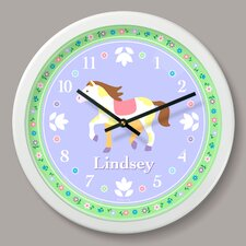 "Ponies Personalized 12"" Wall Clock"