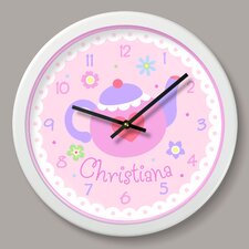 "Tea Party Personalized 12"" Wall Clock"