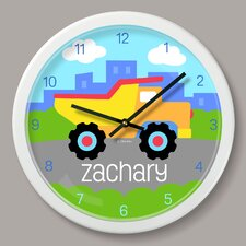 "Truck Personalized 12"" Wall Clock"
