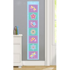 Flower Land Personalized Peel and Stick Growth Chart