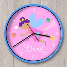 "12"" Fairy Princess Personalized Wall Clock"