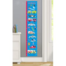 Heroes Personalized Peel and Stick Growth Chart