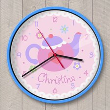"12"" Tea Party Personalized Wall Clock"