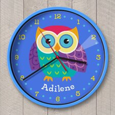 "12"" Owls Personalized Wall Clock"