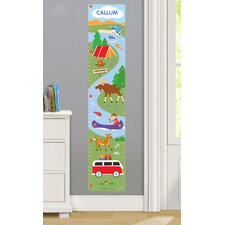 Camping Trip Personalized Peel and Stick Growth Chart