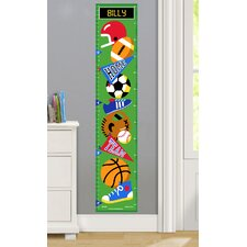 Game On Personalized Peel and Stick Growth Chart