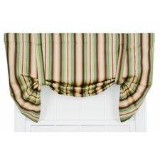 Mateo Medium Scale Stripe Print Lined Tie-Up Curtain Valance
