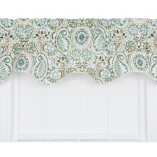 Paisley Prism Jacobean Floral Print Lined Duchess Filler Curtain Valance