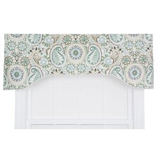 Paisley Prism Jacobean Floral Print Lined Arched Curtain Valance