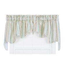 Line-Up Stripe Print Lined Duchess Curtain Valance