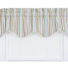 Line-Up Stripe Print Lined Duchess Filler Curtain Valance