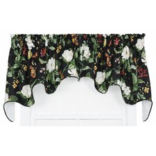 Garden Images Large Scale Floral Print Lined Duchess Curtain Valance