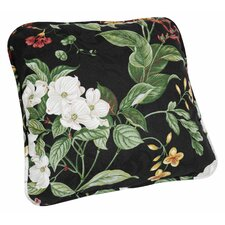 Garden Images Large Scale Floral Print Toss Cotton Throw Pillow