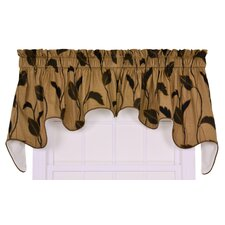 "Riviera Large Scale Leaf and Vine Lined Duchess 100"" Curtain Valance"