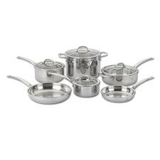 Tri Ply 10 Piece Stainless Steel Cookware Set