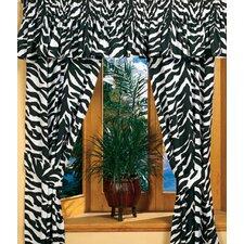 Black Zebra /Cotton Drape Panels (Set of 2)