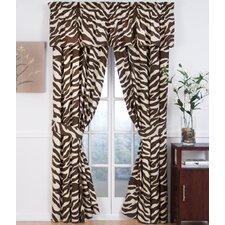 Brown Zebra Curtain Panels (Set of 2)