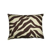 Zebra Oblong Cotton Throw Pillow