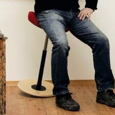 """Move 35"""" Stool with Cushion"""