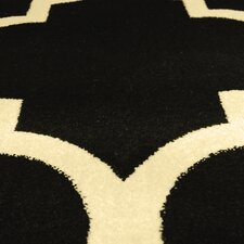 Tiffany Black Geometric Area Rug