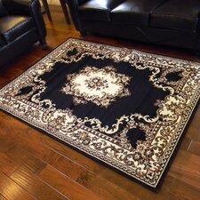 TajMahal Black Oriental Area Rug
