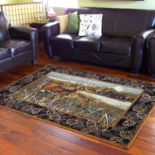 Wilderness Black Area Rug