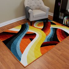 Multi-colored Abstract Area Rug