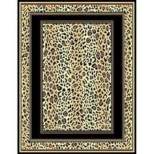 African Adventure Berber Leopard Skin Border Area Rug