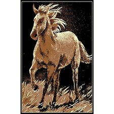 African Adventure Running Horse Area Rug