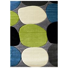 Studio 604 Charcoal Geometric Design Rug