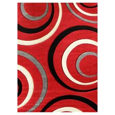 Studio 605 Red Geometric Area Rug