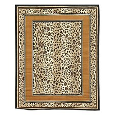 African Adventure Tan Cheetah Skin Area Rug