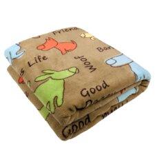 PB Paws Pet Dog Show Super Soft Polyester Fleece Throw