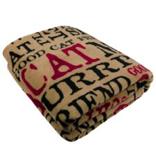 PB Paws Pet Good Cat Super Soft Polyester Fleece Throw