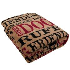 PB Paws Pet Good Dog Super Soft Polyester Fleece Throw