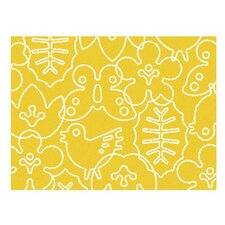 Season White/Canary Yellow Area Rug