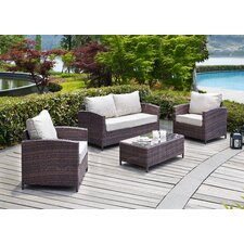 Capitola 4 Piece Seating Group with Cushions
