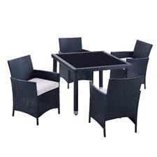 Aptos 5 Piece Outdoor Dining Set with Cushions
