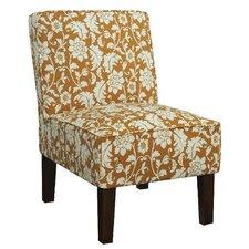 Alexandra Side Chair in Orange Floral